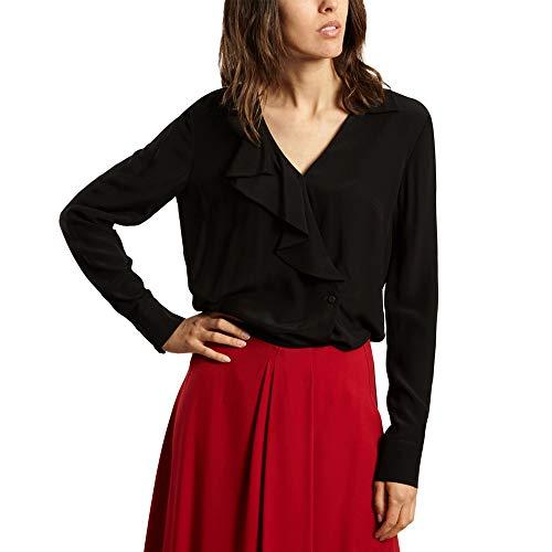Cacharel Wrap Blouse Winter Collection Women Black