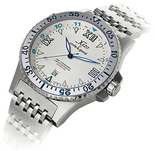 Xezo Men's Air Commando Japanese-Automatic Dive Luxury Watch
