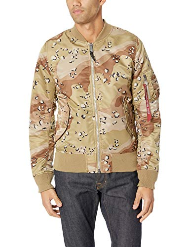 Alpha Industries Men's MA-1 Double CAMO MID Length Flight Jacket