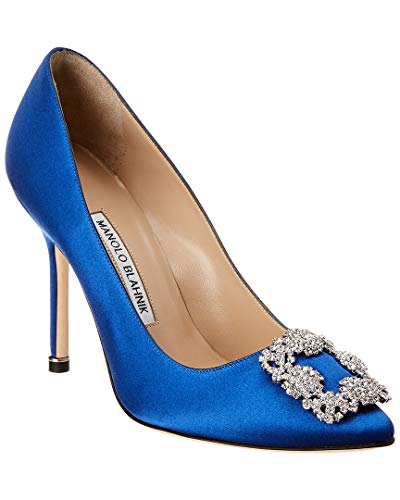 Manolo Blahnik Hangisi Satin Pump, 39 Blue