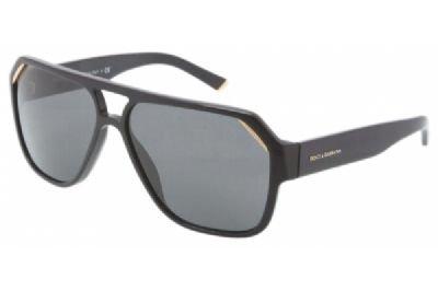 Dolce & Gabbana Sunglasses - Frame: Shiny Black Lens: Gray