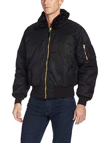 Alpha Industries Men's Nylon Flight Jacket, Black, Medium