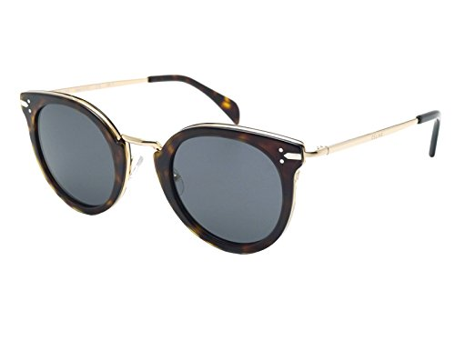 Celine ANT Dark Havana Round Sunglasses Lens Category 3 Size 48