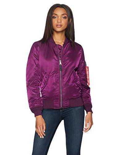 Alpha Industries Women's W Flight Jacket, deep Purple, XS