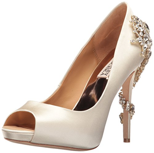 Badgley Mischka Women's Royal Dress Pump, Ivory, 5.5 M US