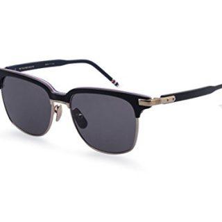 Sunglasses THOM BROWNE TB Matte Black-RWB-12K Gold w/Dark Grey-AR