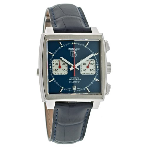 TAG Heuer Men's Monaco Calibre 12 Automatic Chronograph Blue