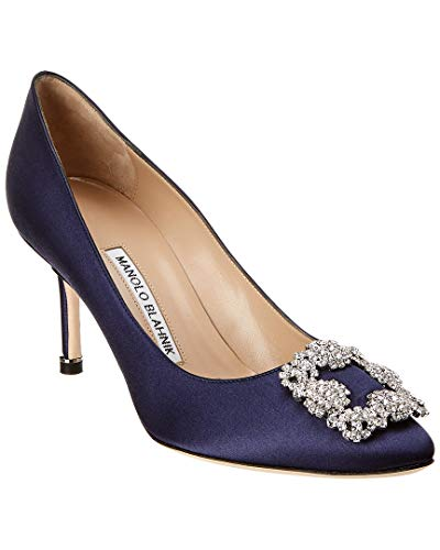 Manolo Blahnik Hangisi Satin Pump, 38, Blue