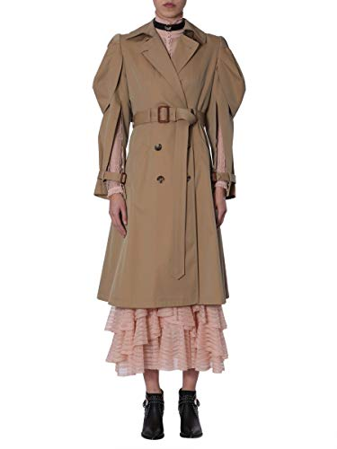 Alexander McQueen Women's Beige Cotton Coat