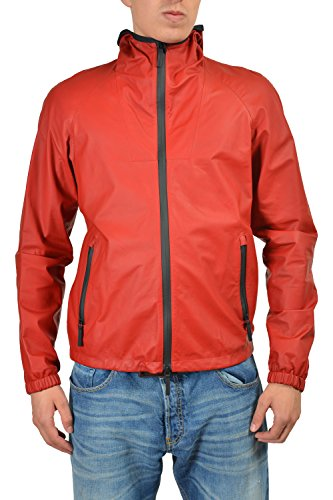 Gucci Men's Red Full Zip Hooded Casual Jacket Size US L IT 52
