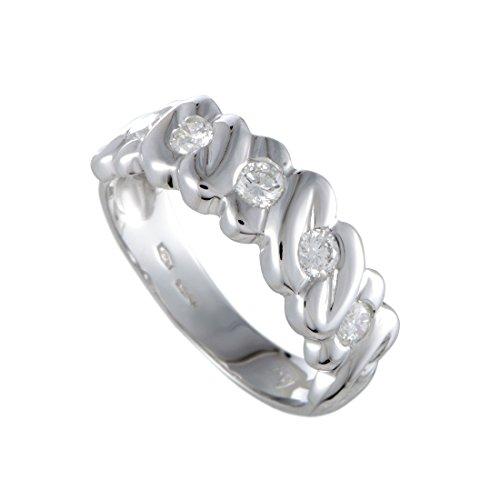 Damiani 18K White Gold .50ct Diamond Band Ring