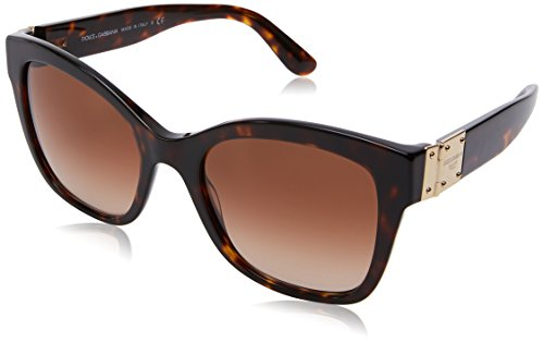 Dolce and Gabbana Havana Round Sunglasses Lens Category 2