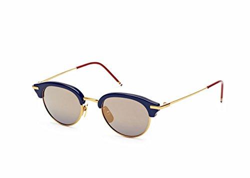 Sunglasses THOM BROWNE Navy-Shiny 18K Gold w/ Dark BlueGold M