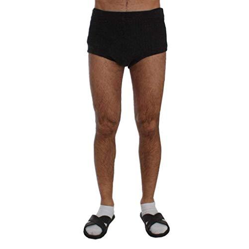 Dolce & Gabbana Gray Wool Mini Stretch Shorts