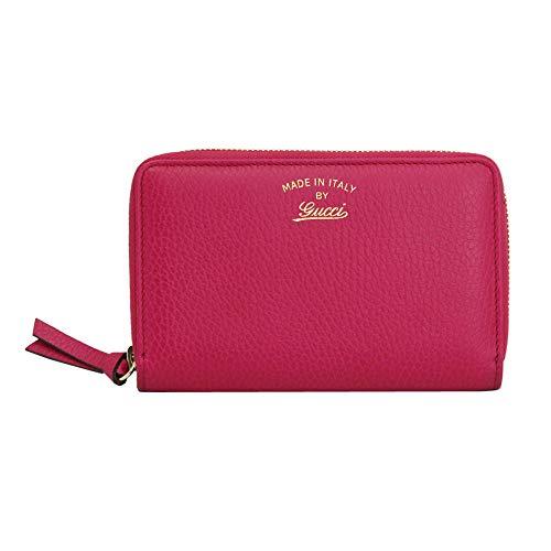 Gucci Women's Pink Leather Zip Around Wallet