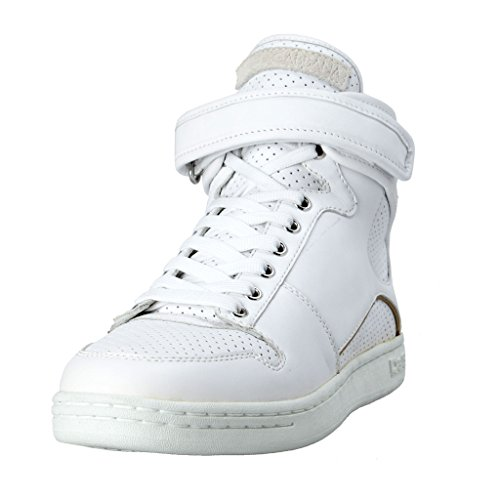 Dolce & Gabbana Men's White Leather Hi Top Fashion Sneakers Shoes