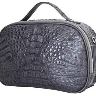 Authentic M Crocodile Skin Womens Hornback Clutch Bag Purse
