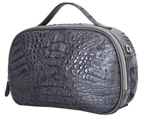 Authentic M Crocodile Skin Womens Hornback Clutch Bag Purse