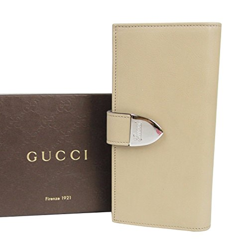 Gucci Continental Signoria Beige Leather Clutch Wallet