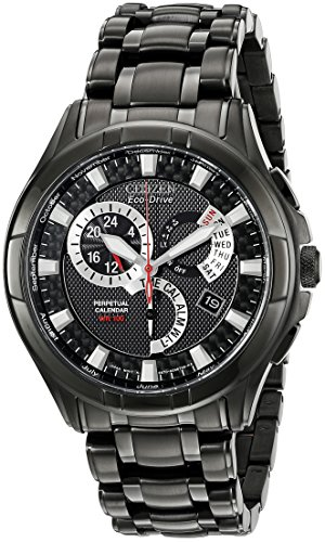 "Citizen Men's Eco-Drive ""Calibre"" Black Ion-Plated Stainless Steel Watch"