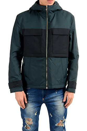 Versace Collection Men's Full Zip Hooded Lined Windbreaker Jacket