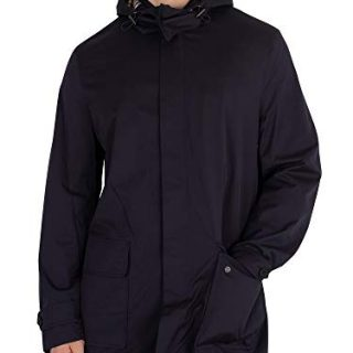 Aquascutum Men's Dexter Parka Jacket, Blue, X-Large