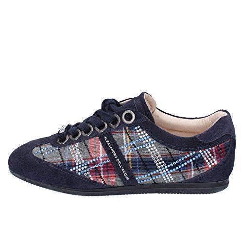 Alessandro Dell'Acqua Fashion-Sneakers Womens Suede Blue 7 US