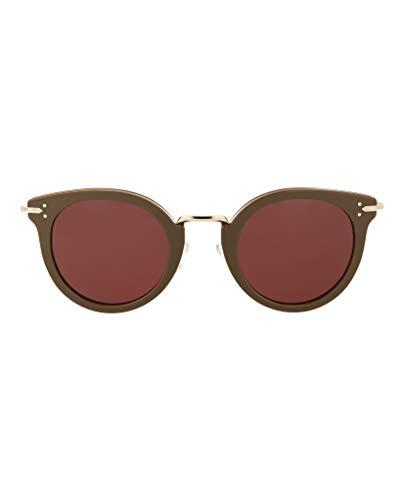 CEL Celine 0HDF Khaki Gold EF pink lens Sunglasses