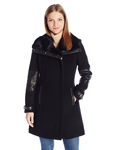 Andrew Marc Women's Mara Asymmetric Wool Coat