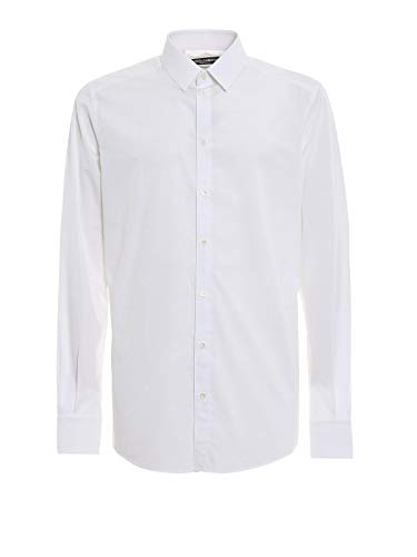 Dolce e Gabbana Men's White Cotton Shirt