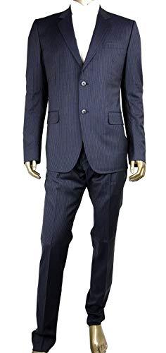 Gucci Men's Classic Stripe Black/Gray Wool Marseille 2 Button Suit