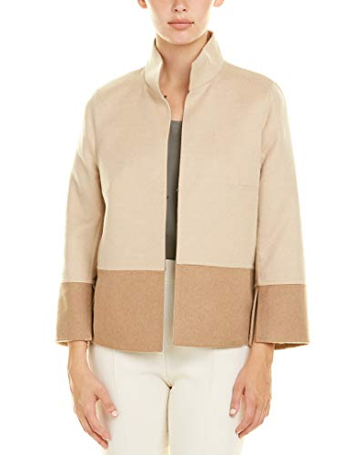 Akris Womens Camel & Wool-Blend Jacket, 10, Beige