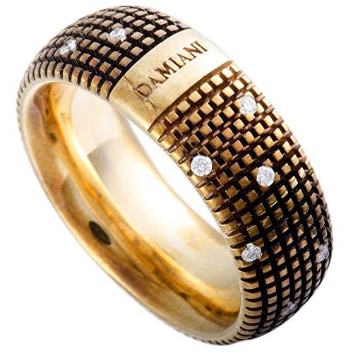 Damiani Metropolitan 18K Yellow Gold and Brown Rhodium 18 Diamonds