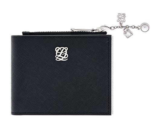 LQ LOUIS QUATORZE Womens Slim Flap Leather Bifold Wallet