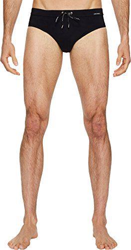 Dolce & Gabbana Men's Solid Brief Swimsuit w/Bag Black 4