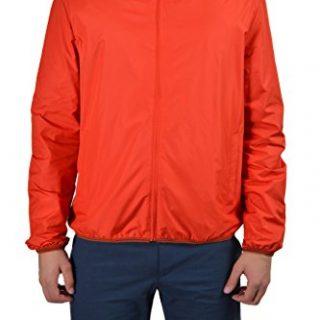 Gucci Men's Orange Full Zip Hooded Windbreaker Jacket