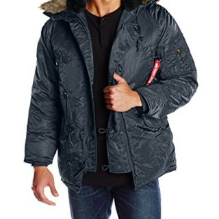 Alpha Industries Men's N-3B Parka Jacket, Replica Blue, Small