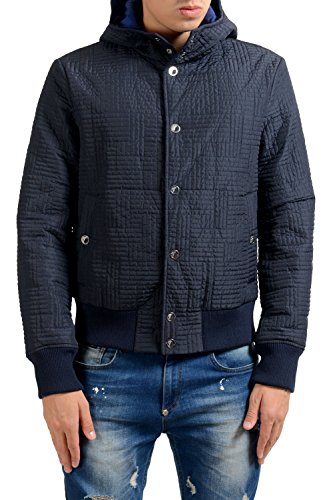 Versace Collection Men's Blue Button Up Lightly