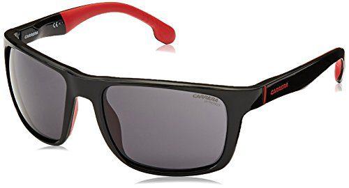 Carrera Men's Rectangular Sunglasses, Black, 57 mm