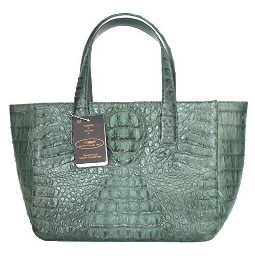 Authentic M Crocodile Skin Womens Hornback Bag Tote