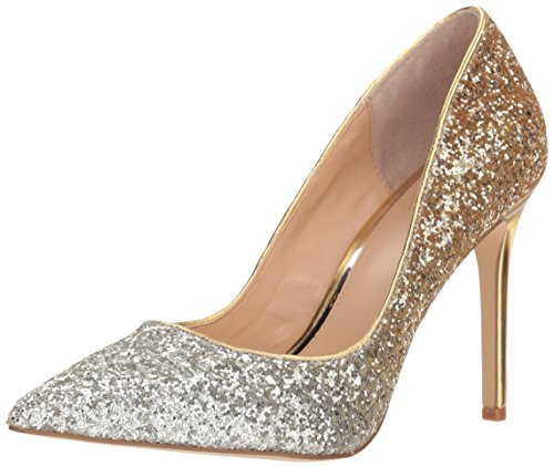 Badgley Mischka Jewel Women's Malta Pump, Silver/Gold