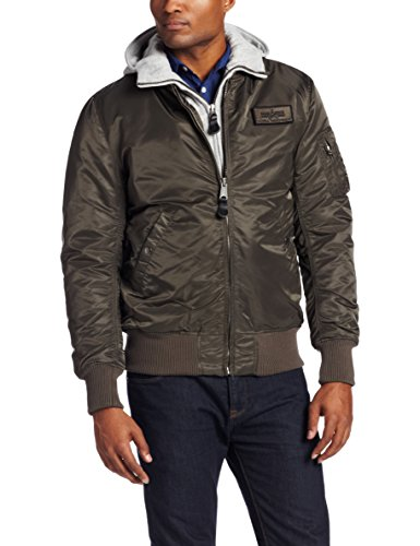 Alpha Industries Men's MA-1 D-Tec Hooded Flight Bomber Jacket