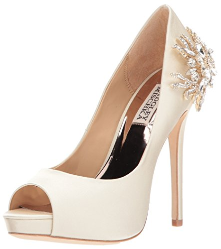 Badgley Mischka Women's Marcia Pump, Ivory, 8 M US