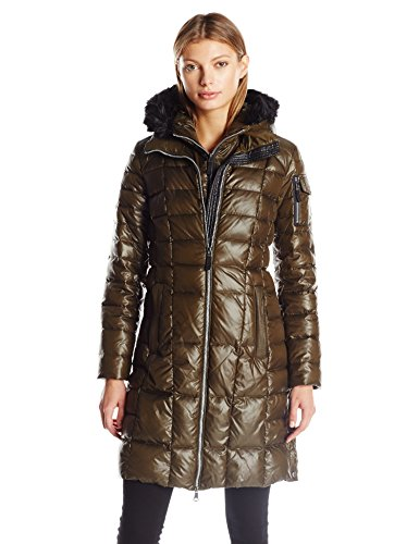 Marc New York by Andrew Marc Women's Julia 3/4 Length Quilted Coat