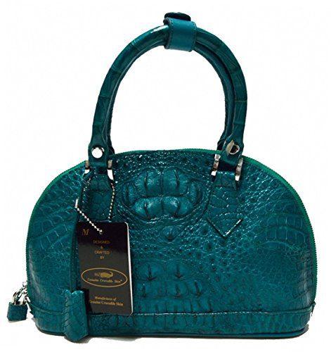 Authentic M Crocodile Skin Womens Hornback Leather Zip
