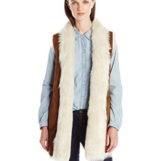 Marc New York by Andrew Marc Women's Sasha Faux Fur Long Vest