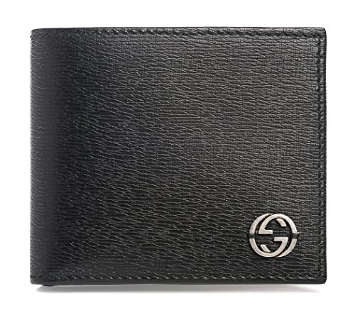 Gucci Black Shanghai Leather Wallet Guccissima
