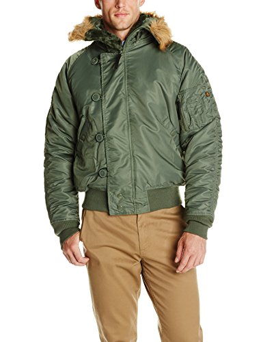 Alpha Industries N-2B Short Waist Parka,Sage Green- Large