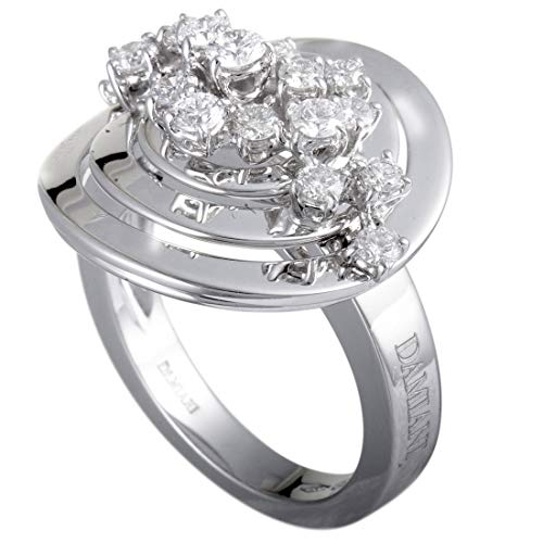 Damiani Sofia Loren 18K White Gold Diamond Cluster Round Ring
