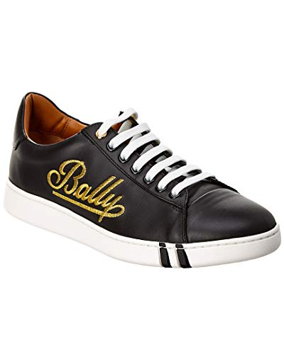 BALLY Winstion Leather Sneaker, 41, Black